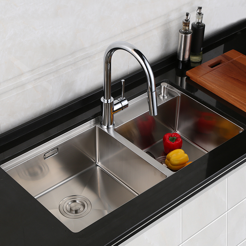 HSK304 Stainless Steel Sink, Double Trough Kitchen, Large Wash Basin,  Manual Sink, Set Table, Pan Bottom Pan, Pan In Kitchen Sinks From Home  Improvement On ...
