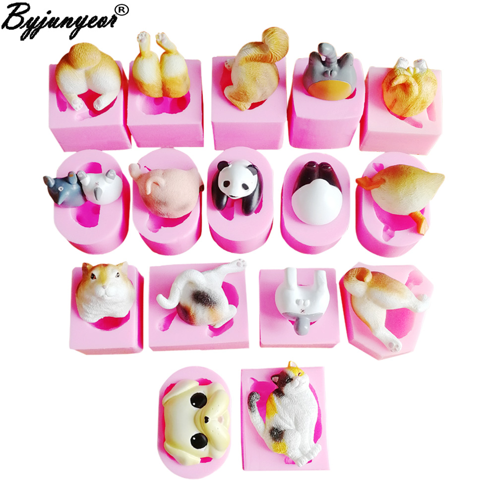 Superb 4 Cute Pandas Uv Resin Silicone Mold Cake Decoration Birthday Personalised Birthday Cards Veneteletsinfo