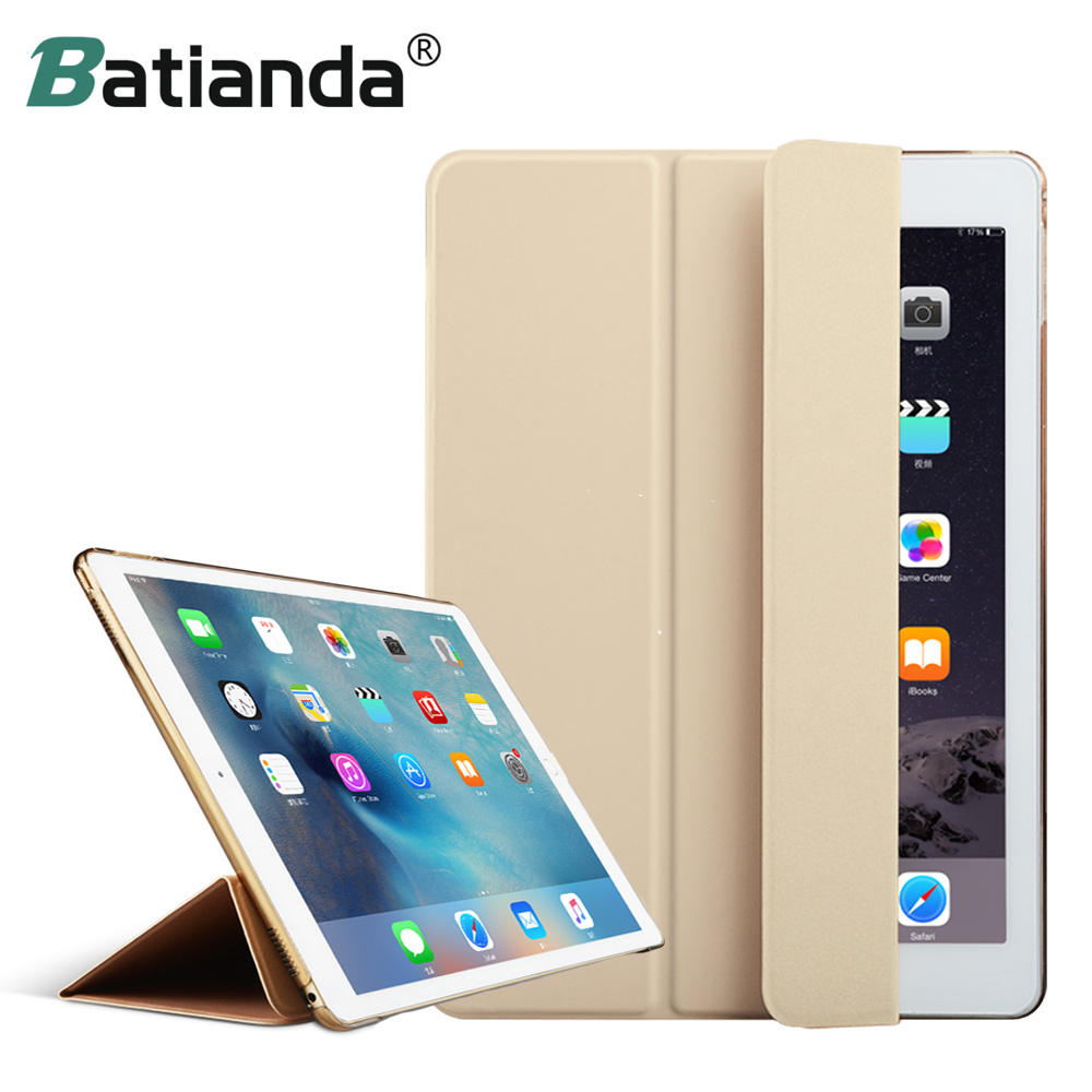 "Mood Ultra Slim Magnetic Front Smart Case nahk + Hard PC tagakaane iPad Pro 12.9 ""9.7"" jaoks (ei sobi 2017 Uus Pro 12.9 2th)"