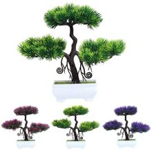 Artificial Plants Bonsai Tree Simulated Welcoming Pine Bonsai Home Plastic Desktop Decoration Interior Decoration Green Plant