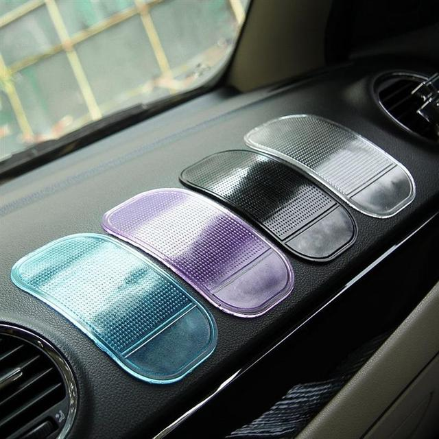 Car Sticky Pad Anti-Slip Key Holder Mount Mat for Dashboard Mobile Cell Phone GPS Glasses Ramdon Color