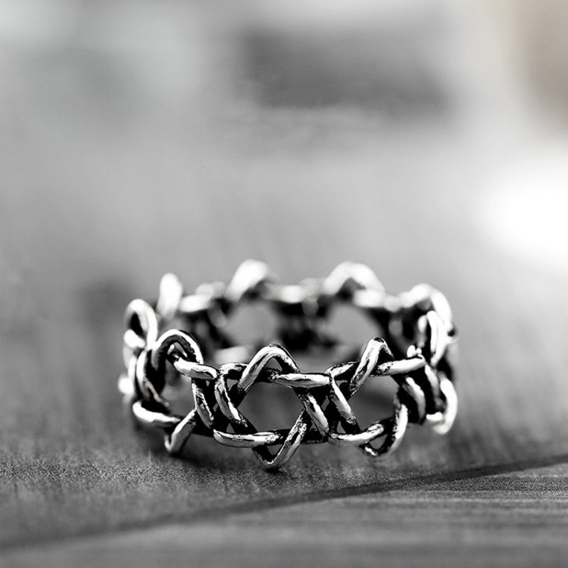 Retro Silver Color Hollow Stars Ring Women Opening Rings 2017 Fashion Jewelry Finger Ring Adjustable Ladies Punk Rings