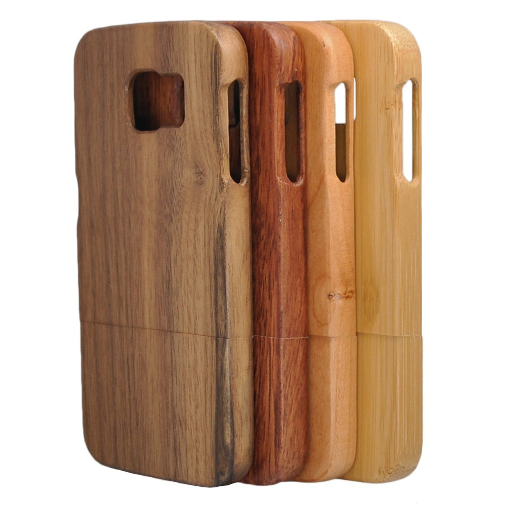 Originální surové dřevo skutečné přírodní hrubé bambusové pouzdra pro Samsung S8 PLUS NOTE 4 3 S7 Edge S9 S9 PLUS