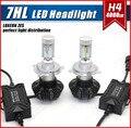 1 Unidades G7 H4 9003 HB2 50 W 8000LM LED Headlight Kit de Automóvil LUXEON ZES LUMILED Chip séptima Sin Ventilador 6500 K Super White High/Low Haz Doble