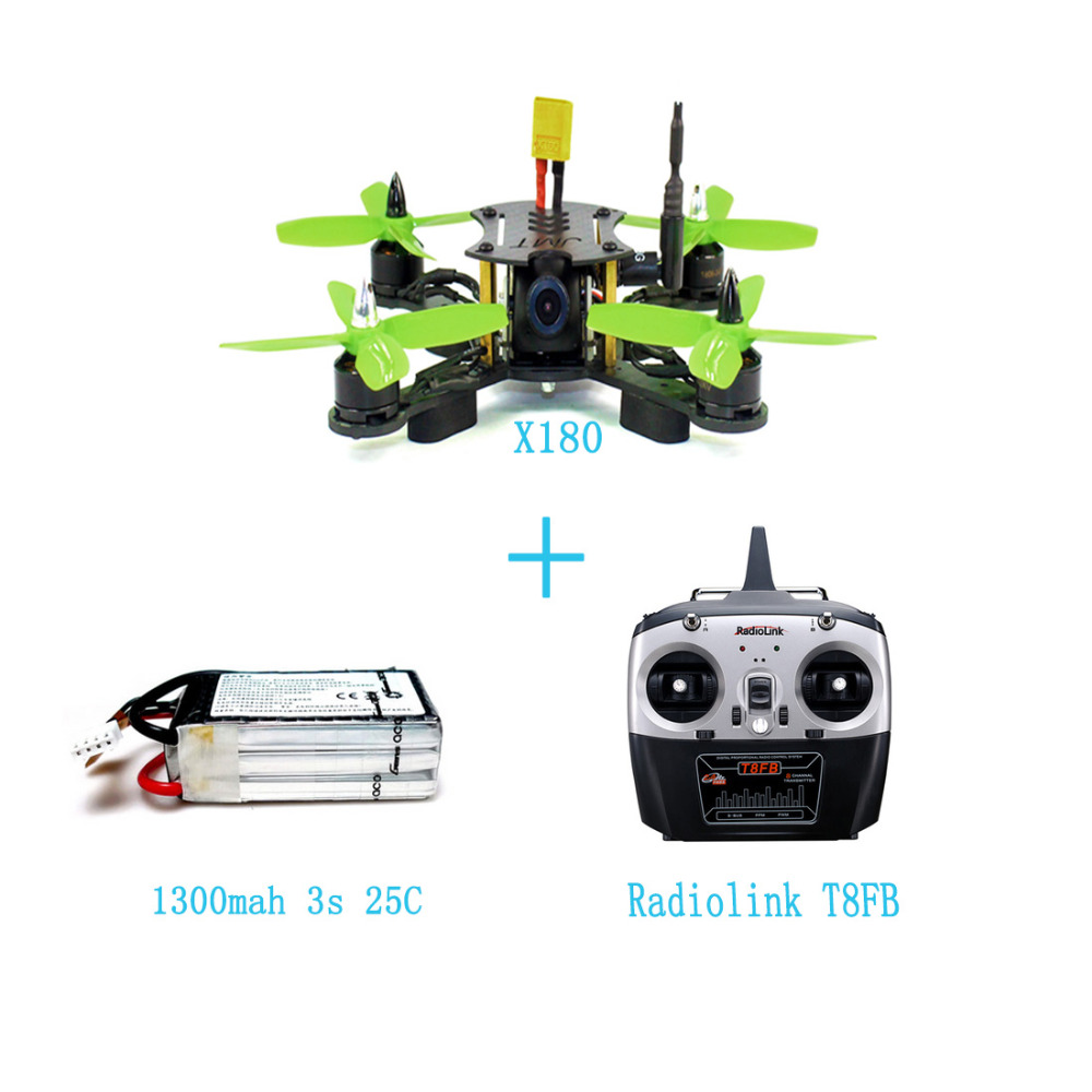 JMT X180 RTF Assembled DIY Quadcopter Full Drone Kit with Hobbywing ESC FPV OSD HDCAM Radiolink T8FB RX TX DIY RC Racer F21233-F jmt x180 diy quadcopter pnp assembled racer kit 180mm super light mini rc racing drone with osd fpv hd camera no rx tx battery