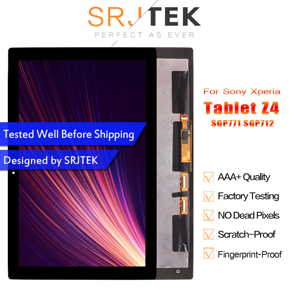 For Sony Xperia Tablet Z4 SGP771 SGP712 LCD Display Touch Screen Digitizer Panel Assembly Replacement For Sony Tablet Z4 LCDFor Sony Xperia Tablet Z4 SGP771 SGP712 LCD Display Touch Screen Digitizer Panel Assembly Replacement For Sony Tablet Z4 LCD