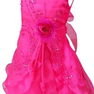 Image 3 - IEFiELเด็กสาวปักดอกไม้โบว์พรรคอย่างเป็นทางการบอลชุดพรหมเจ้าหญิงเพื่อนเจ้าสาวแต่งงานเด็กTutuชุดขนาด4 14Y