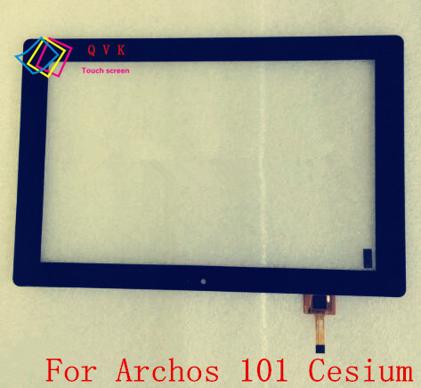 Black 10.1 Inch for Archos 101 Cesium tablet pc touch screen panel  Digitizer Glass sensor replacement 10 1 inch capacitive touch screen panel digitizer glass replacement for goclever aries 101 tablet pc