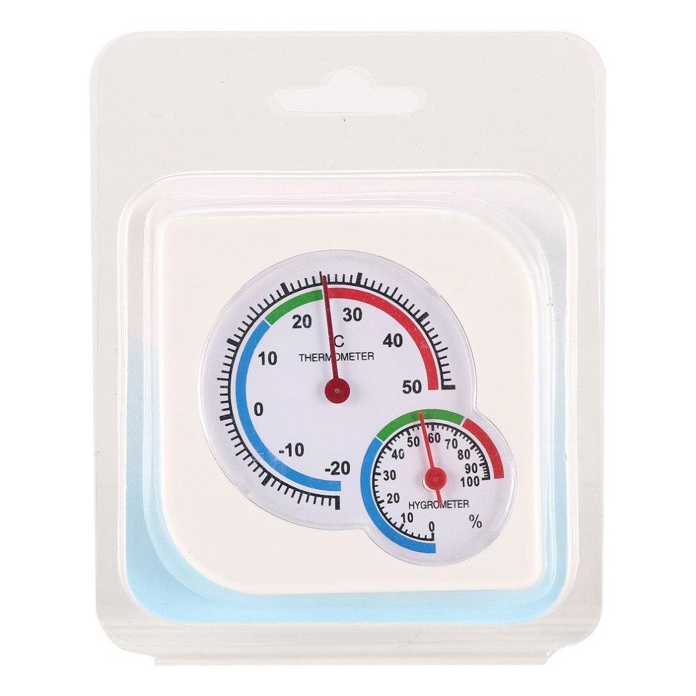 Useful White Mini Thermometer For Nursery Baby House Room Wet Hygrometer -20~50 Deg.C Temperature Meter For Indoor Kids