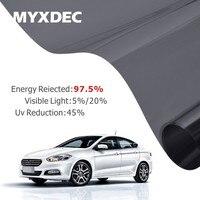 50x300cm Car Side Window Black Tint Film Glass VLT 5 20 Auto House Solar UV Protection