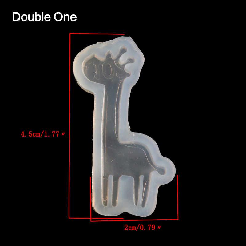 الزرافة الغزلان الحيوان شكل راتينج السليكون العفن صنع المجوهرات DIY الحرفية الأبيض 1 قطعة 45x20 ملليمتر