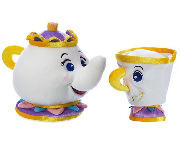 The movie the beauty and the beast belle toy magic teapot and the magic teacup children gift 1pc