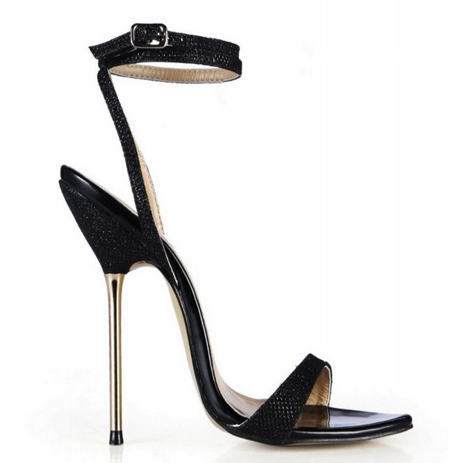 2017 new fashion sexy strappy summer ultra high heels party wedding pumps  women gladiator stiletto sandals tenis feminino 35 43-in High Heels from  Shoes on ... 66f58b141dad