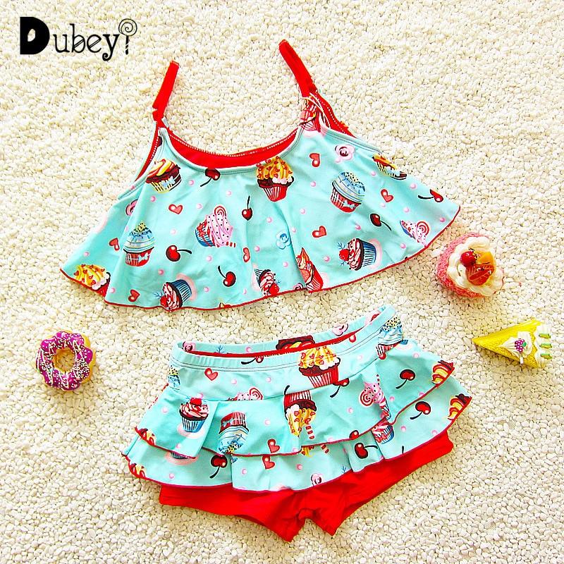 Bademode für Mädchen Baby Eis Badeanzug Baby Mädchen Strand Kostüm Kinder 1-7 Jahre Alt Bademode für Mädchen