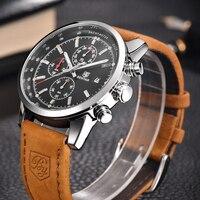 2017 Sport Men Watches Men Waterproof Leather Band Quartz Wrist Wristwatch Military Male Clock Relogio Masculino