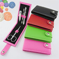 Hot Sale Gift 4 In 1 Kit Nail Clippers Manicure Set Nail Tools Sets PVC And High Carbon Steel 4 Colors Drop Shipping 0075