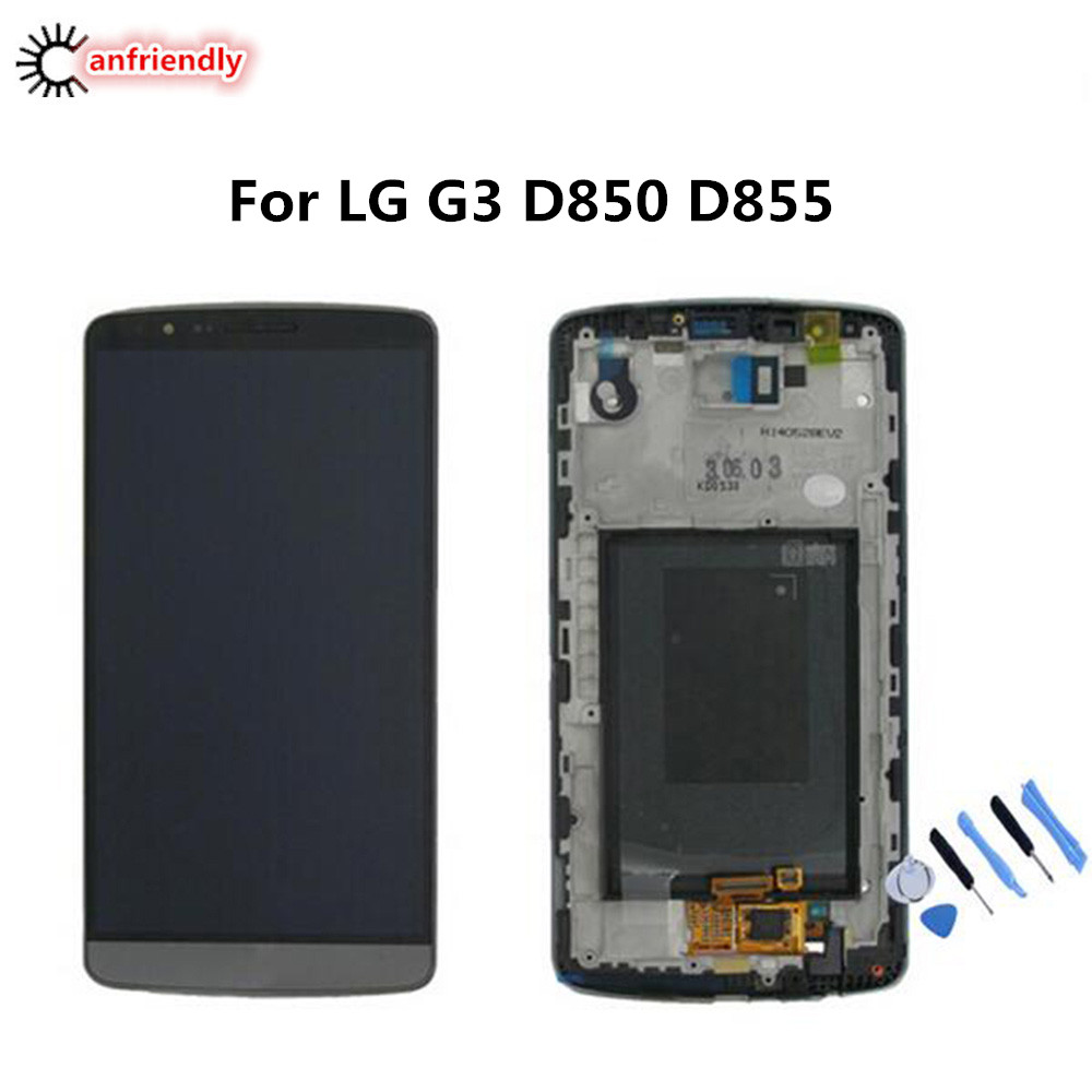 For LG G3 D850 D855 LCD Display + Touch Screen With Frame Replacement Digitizer Assembly For LG Optiums G3 G 3 lgg3 lcds screen