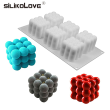 SILIKOLOVE 3D Cherry Mould Silicone Baking Mousse Cakes Square Bubble DIY Oven Safe Non-stick Brownie Dessert Molds Cake Tray