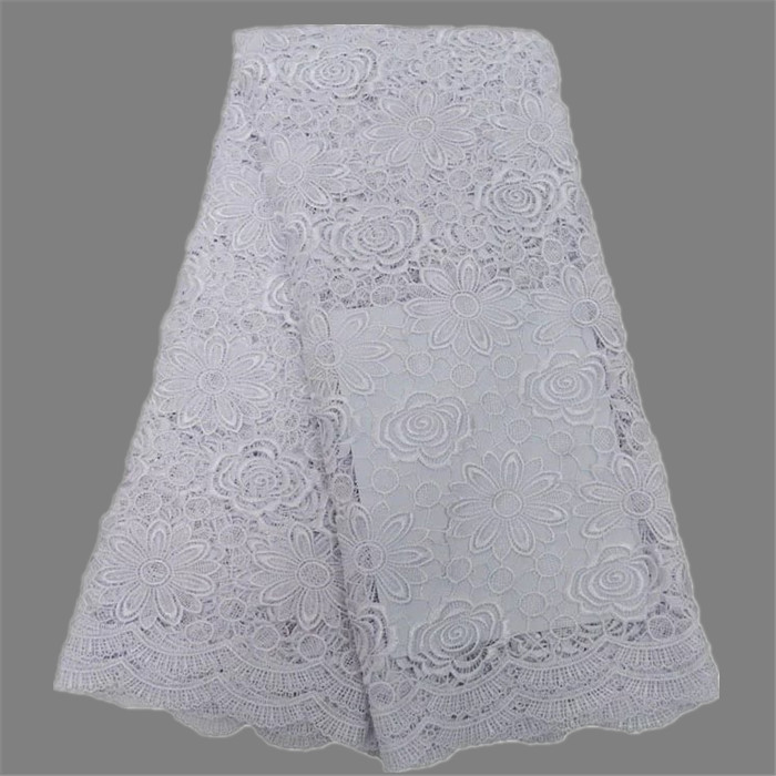 Latest African Chemical Water Soluble Lace Fabric Flower Pattern