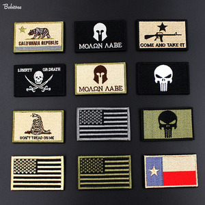 Tactical Morale Army Military Badges Embroidered Stickers Stick on American Flag Patch for Clothes Backpack Decoration(China)