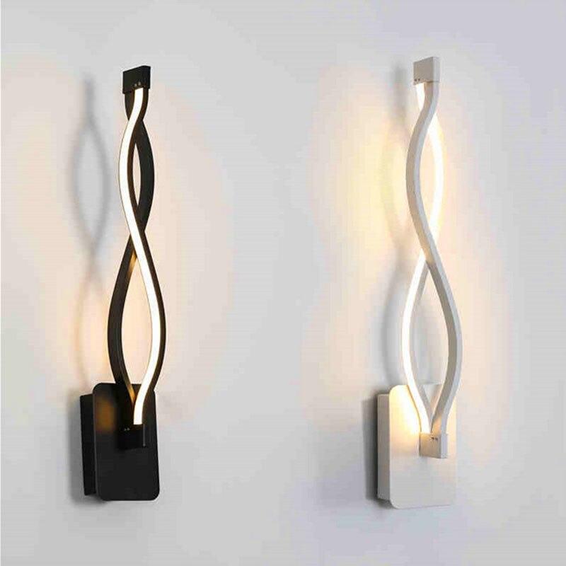 Levou Quarto lâmpada de Cabeceira lâmpada de Parede Criativo Lâmpada Simples E Moderno Da Arte de Acrílico lâmpada de Parede Luzes da Escada Do Corredor