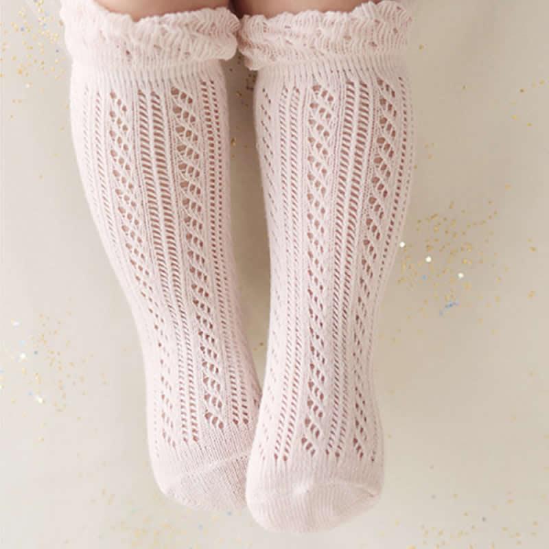 Baby Girl Socks 0-2 Year Toddler Baby Cotton Mesh Breathable Socks Newborn Infant Baby Boy Cotton Summer Socks High Knee