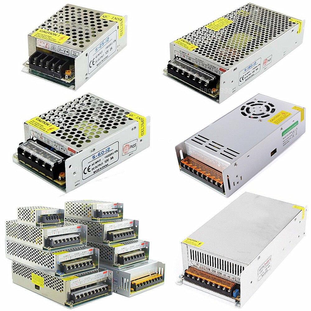 Conductor del LED ac100-240v a DC 24 V 1a 2a 3a 5a 10a 15a 20a 30a 40a 50a Adaptadores de corriente para LED luz de tira transformador