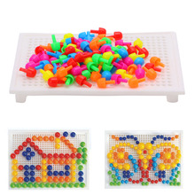 92шт креатив гриб ногти блоки с доска комплект обучающий ребенок поделки игрушка подарок новинка