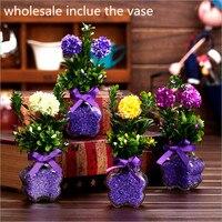 Vận chuyển miễn phí silk hoa Châu Âu 1 bộ Nhân Tạo Hoa Rơi Sống Động Hoa Mẫu Đơn Fake Leaf Trang Trí Tiệc Cưới Nhà