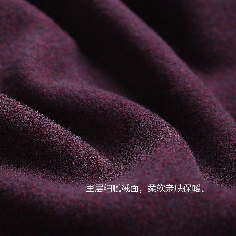 Gli uomini di pelle amichevole di lusso di velluto caldo di spessore biancheria intima termica maglione di cotone autunno abbigliamento pantaloni lunghi degli uomini di vestito inverno - 4