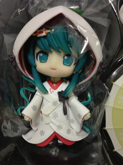 "GSC Cute Nendoroid Snow Miku Strawberry White Kimono Ver. Hatsune Miku PVC 3.6"" Animation Figure Action Figure Toy 303# MK013"