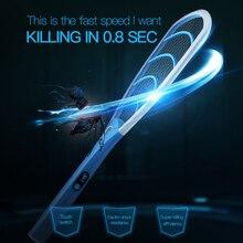 YAGE Ongediertebestrijding Elektrische Mosquito Swatter Mosquito Killers Bug Zapper Weigeren Racket Trap Elektrische Schok met Licht Touch
