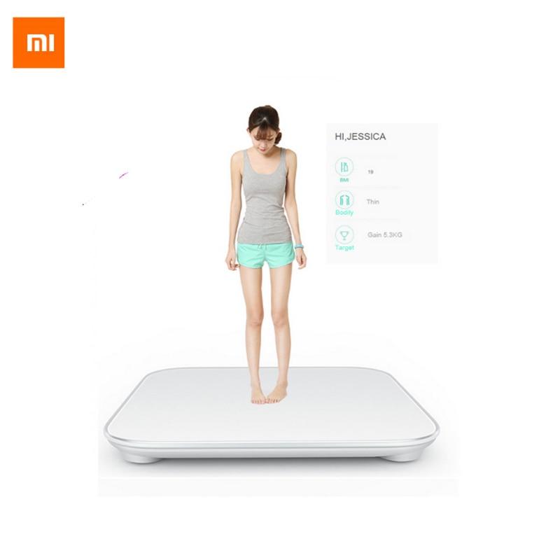 100% оригинал Сяо Mi Весы Mi Электроника для здоровья весом Mi Весы электроники Bluetooth4.0 Похудение цифровой Весы белый