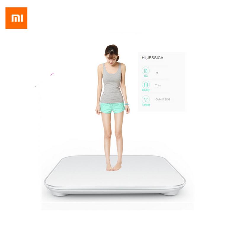 Prix pour 100% D'origine Xiaomi Échelle Mi Smart Santé Pesant MiScale Électronique Bluetooth4.0 Perdre Du Poids Numérique Échelle Blanc