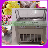 New design cold plate flat pan fried ice cream machine