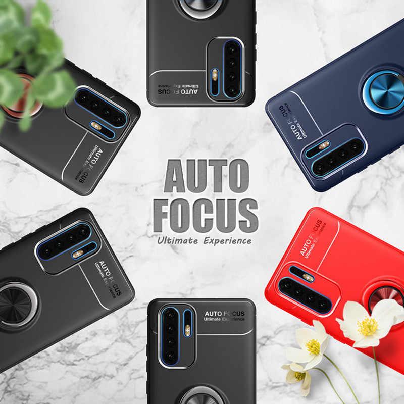 Роскошный противоударный автомобильный кольцевой чехол для телефона huawei P30 P20 Lite P Smart 2019 Магнитный чехол-подставка для huawei P30 P20 Pro мягкий чехол