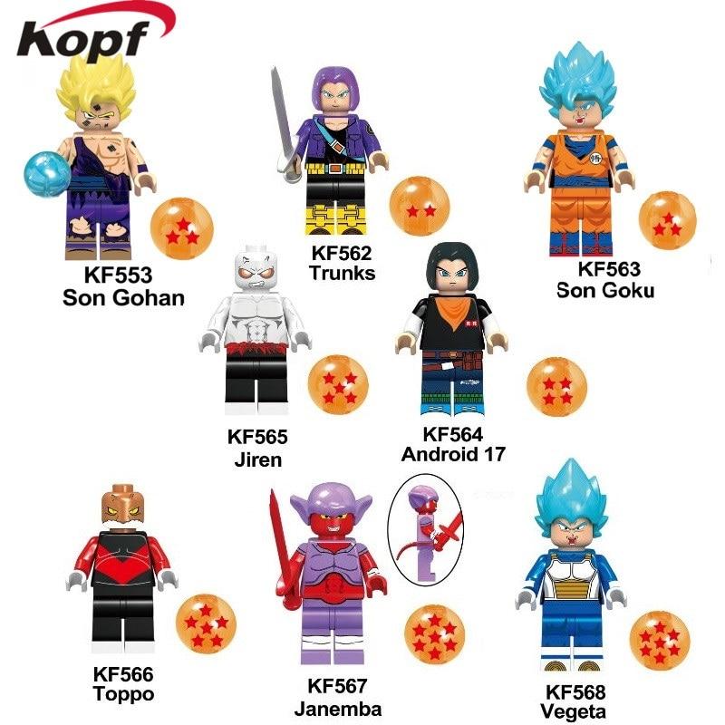 Single Sale Building Blocks Dragon Ball Son Gohan Trunks Janemba Vegeta Action Figures Model Collection For Children Toys KF6045