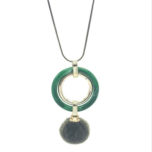 Round crystal pendant snake chain long necklace simple puffer ball round crystal pendant snake chain long necklace simple puffer ball sweater chain wild necklace for women mozeypictures Gallery