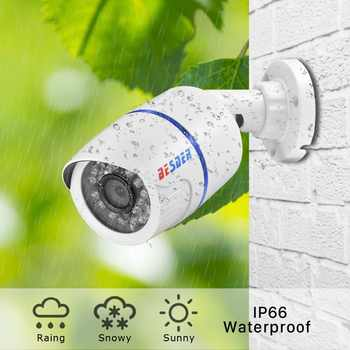 BESDER H.265 HD 2MP/ 3MP/ 5MP Security IP Camera SONY IMX335 ABS Plastic Outdoor Audio Camera IP DC12V / 48V PoE Waterproof IPC