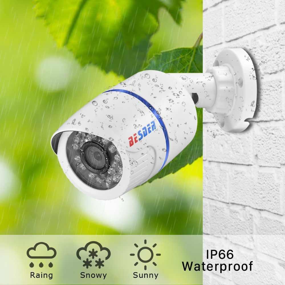Besder H.265 HD 2MP/3MP/5MP An Ninh Ip Sony IMX335 ABS Nhựa Ngoài Trời Âm Thanh Camera IP DC12V /PoE 48V Chống Nước IPC