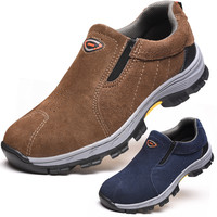 AC12006 Labor Working Shoes Security Shoes for Men's Toe Steel Industrial Insurance Protection Shoes Heavy Duty Sneakers