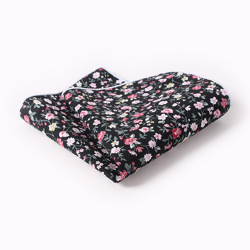 Mantieqingway Men's Suits Floral Printed Handkerchiefs Woven Party Pocket Square Hankies Wear Pockets Hanky Chest Towel