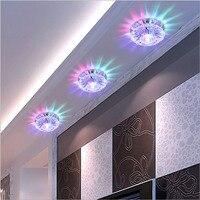 3W LED Downlight Modern Living Room Recessed Multicolor Led Panel Light For Home Hotel KTV Decorative