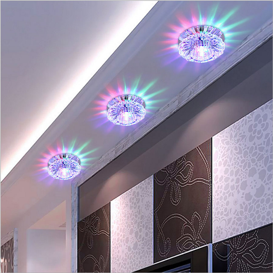 3W LED Downlight Modern Living Room,Recessed Multicolor