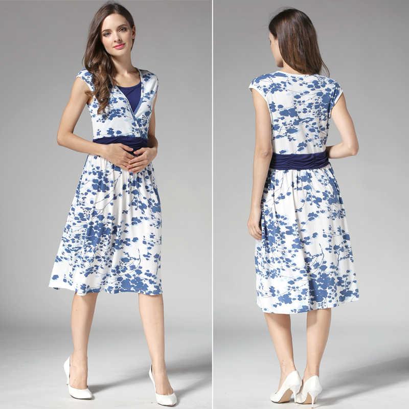 f5c86880ea52 ... Emotion Moms Летняя одежда для беременных, платье для кормящих мам,  одежда для кормящих ...