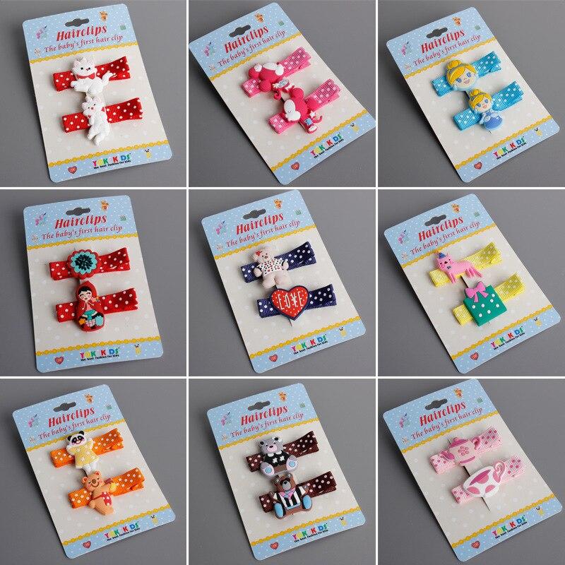 2 PCS Newly Design Cute Cartoon Animal kids Hair Clips Princess Barrette Baby Hairpins Children   Headwear   Girls Hair Accessories