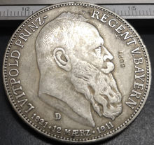 1911-D Kingdom Of Bavaria 5 Mark-Otto Silver Plated Copy Rare coin(China)