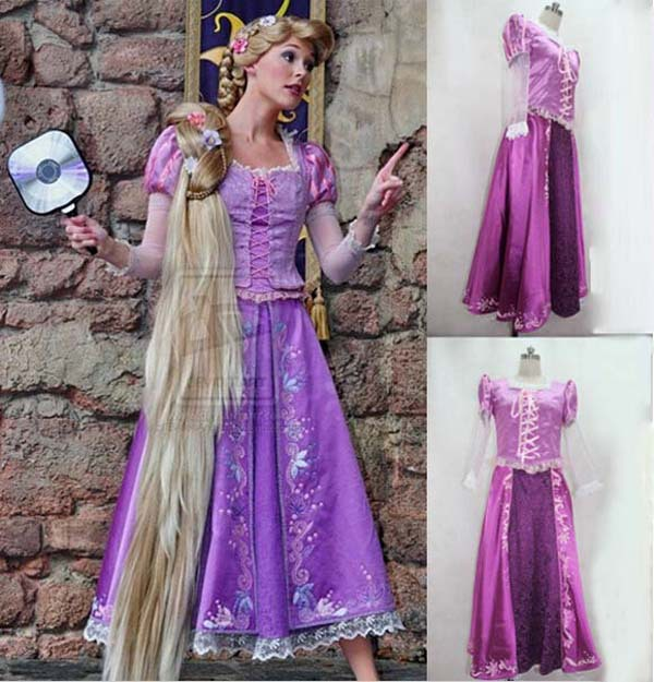 bb137b165 Free Shipping Rapunzel Princess Long Purple Cosplay Costume Dress For Women  Girl Custom Made -in Movie U0026 TV Costumes From Novelty U0026 Special Use  On . ...