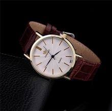 2017 Hot Sale fashion Men Top luxury Brand Quartz Watch High Quality Business Leather men Colock R4 Wristwatches Relojes Hombre