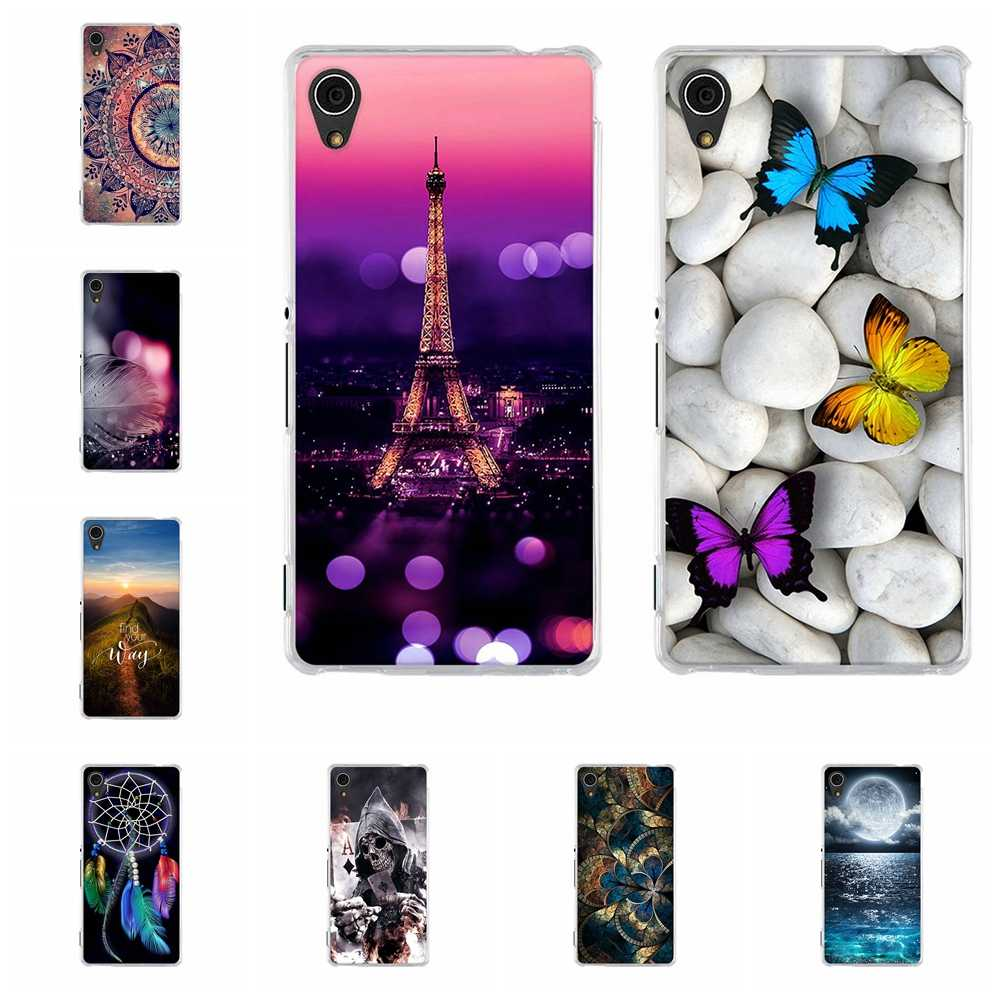 For Sony Xperia M4 Aqua Case TPU For Sony M4 Aqua Dual E2303 E2312 E2333 E2353 Cover Cute Pattern For Sony Xperia M4 Aqua Capa